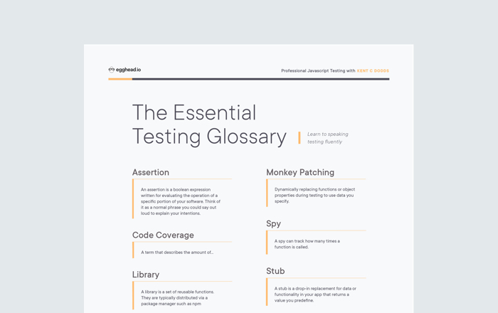 The Essential Testing Glossary